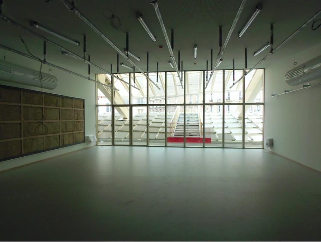 un des nombreux studios de La Place pouvant accueillir des danseurs, des artistes en répétition, en création, se transformer en showroom.